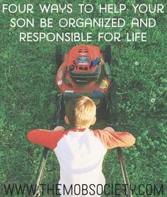 Becky Barnfather shares four tips to helping your son be organized and shoulder the responsibility of his life. Her practical tips can be applied to day and will ripple for many years to come. Parenting Advice, Kids And Parenting, Be Organized, Raising Boys, Love My Boys, Lessons For Kids, Life Lessons, My Guy, Life Skills