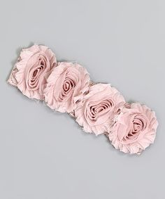 This Pale Mauve Heather Floral Lace Headband by Truffles Ruffles is perfect! #zulilyfinds
