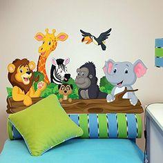 Boys Room Decor, Nursery Wall Decor, Baby Decor, Elephant Decoration, Baby Wall Decals, Wall Painting Decor, School Murals, Kids Room Paint, Kids Bedroom Designs