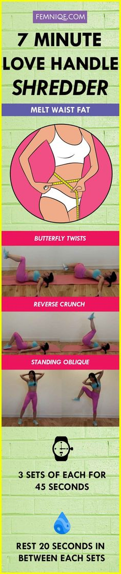 THE 7 MINUTE LOVE HANDLES WORKOUT CHART