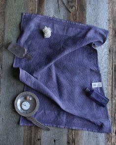 Moody Midnight Tea Towel, inks + thread