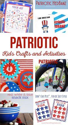 Patriotic themed kid