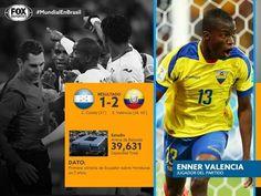Estadísticas del Honduras vs Ecuador y jugador del partido, Brasil 2014