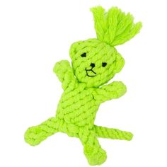 Petseeker Braided Monkey Teeth Clean Pet Toys Puppy Cotton Rope Toys 9-Inch :Green -- For more information, visit image link. (This is an Amazon affiliate link)