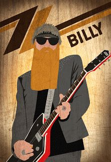 Dimitris Klonos Art Directory: Billy Gibbons illustration