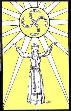 Saule, (SOW-lay) the Baltic Sun Goddess./not scandinavian, but i love the Sun Goddess - Sunna in my culture.