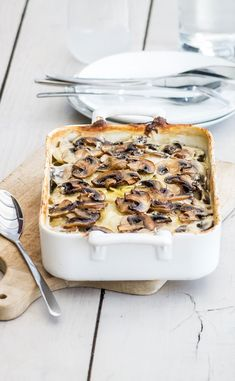 Recipe - LOU mushroom gratin and potatoes Fall Recipes, Healthy Recipes, Cordon Bleu, Mushroom Recipes, Tupperware, Main Dishes, Clean Eating, Stuffed Mushrooms, Food And Drink