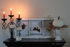 "The Charm of Home: Halloween Mantel ""13"