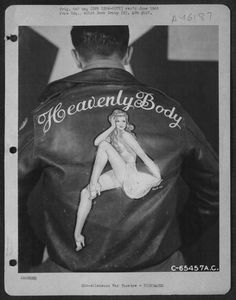 hand-painted leather bomber jackets from World War II