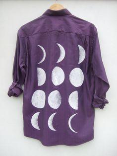 Purple Moon Phase Shirt by tappingtonandwish