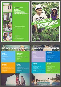 Polaris Photography pricelist brochure design.