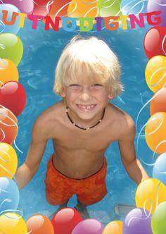 uitnodigingskaart zwemfeestje - Google zoeken