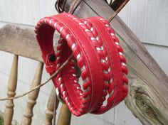 90s Red Justin Western Leather Belt, 70-76 cm / 27-30 in