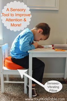 Your Kid's Table: Sensory Diet Tool {Senseez Review} a sensory tool to improve attention and more! Pinned by SOS Inc. Resources. Follow all our boards at pinterest.com/sostherapy/ for therapy resources.