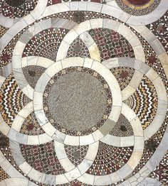 The intricate detail of Italian Romanesque mosaic work reflects a passion for decorating with stone that Walker Zanger has always shared. Marble Mosaic, Mosaic Art, Mosaic Tiles, Mosaic Floors, Floor Patterns, Mosaic Patterns, Floor Design, Tile Design, Stone Pavement