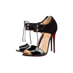 """Pre-owned """"""""Mayerling"""""""" heels (9,360 MXN) ❤ liked on Polyvore featuring shoes, pumps, black, pre owned shoes, christian louboutin, christian louboutin pumps and christian louboutin shoes"""