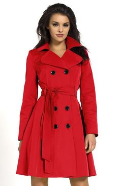 Veste manteau femme rouge