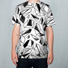 Flying Geometrics All-Over Print Sublimation Men's T-shirt