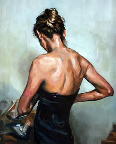 Kai Fine Art is an art website, shows painting and illustration works all over the world. Back Painting, Woman Painting, Figure Painting, Illustration Art, Illustrations, Illustration Pictures, Photo D Art, Cool Paintings, Portrait Art