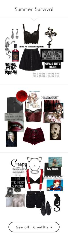 """""""Summer Survival"""" by witchblood ❤ liked on Polyvore featuring Thakoon, AQ/AQ, NSF, Myla, Pieces, Vans, H&M, Valfré, Ann Demeulemeester and Organic by John Patrick"""