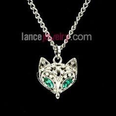 Lovely fox model pendant necklace
