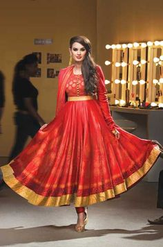 Red anarkali #salwaar kameez #chudidar #chudidar kameez #anarkali #anarkali suits #dress #indian #outfit #shaadi #bridal #fashion #style #desi #designer #wedding #gorgeous #beautiful
