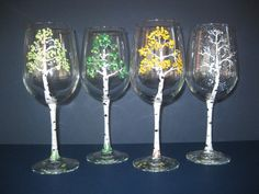I want to do something like this to my wine glasses!