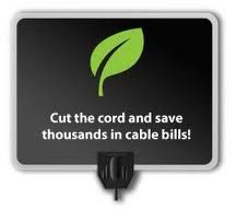"""leaf cut the cord - """"If you are cutting the cable bill and streaming content…we have discovered probably the best thing you will ever plug into your HDTV. It's the paper-thin HDTV antenna from Mohu.""""  - HDTV Magazine"""