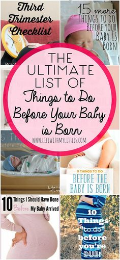 The ultimate list of things to do before your baby is born. This is a great roundup of the best posts all about how to prepare for your baby being born! teen statistics in uk, 10 weeks postpartum. 5 Weeks Pregnant, Pregnant Mom, Before Baby, After Baby, Baby Checklist, Preparing For Baby, Baby Arrival, First Time Moms, Baby Needs