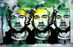 Kane West, by Mr. Brainwash.pop Art.