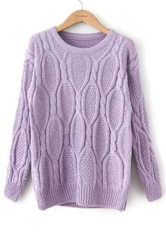 Lavendar Knit Sweater