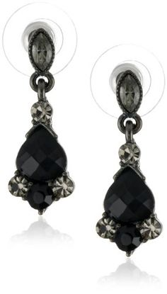#blackdiamondgem 1928 Jewelry Vintage-Inspired Black Crystal Drop Earrings	by 1928 Jewelry - See more at: http://blackdiamondgemstone.com/jewelry/earrings/drop-dangle/1928-jewelry-vintageinspired-black-crystal-drop-earrings-com/#sthash.EEweozny.dpuf