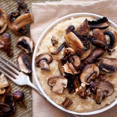 Passover Risotto: Quinoa & Roasted Mushrooms