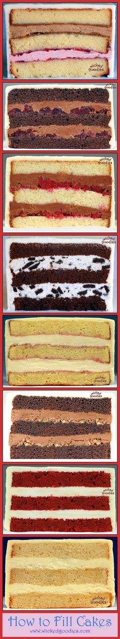 How to Fill Layer Cakes > Tutorial by Wicked Goodies
