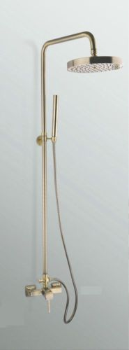 Antique Brass Wall Mounted Rainfall Round Shower Head Faucet Shower Set L-432k   eBay