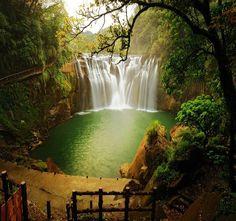 Beautiful Shifen waterfall in Taiwan