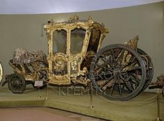 Carriage for two persons   Austria; Vienna   1740   Ashwood, velvet, bronze, iron   The Kremlin State Historical & Cultural Museums   Belonged to Empress Elisabeth Petrovna