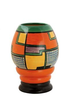 Clarice Cliff // Art Deco ceramic in orange and green and yellow