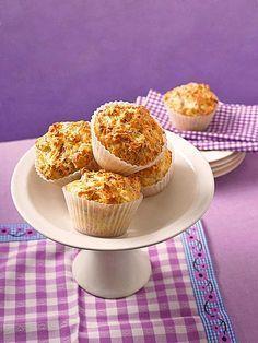 Herzhafte Schinken - Käse - Muffins, ein leckerer Snack!