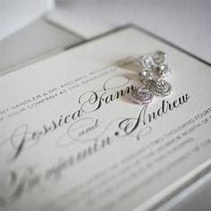 Diamond Drop Earrings   Artful Weddings by Sachs Photography   Theknot.com