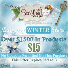 #BooLand Designs Buy My WINTER Store for only $15 for a limited time.  #theStudio #digiscrap #BMS