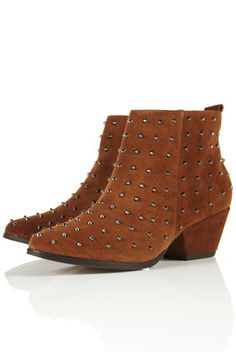 Studded western style boot
