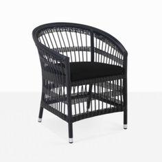 Sahara Wicker Dining Chair (Black)-0