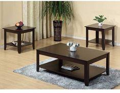 Winston Porter Leafwood 3 Piece Coffee Table Set