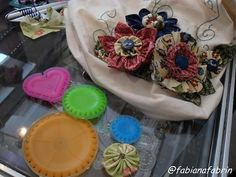 Bag with Yo-Yo Flowers #yoyo #crafts