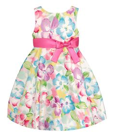 Another great find on #zulily! Blue Floral Dress - Toddler & Girls by American Princess #zulilyfinds