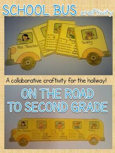 School bus Collaborative craftivity. The wheels on the bus!