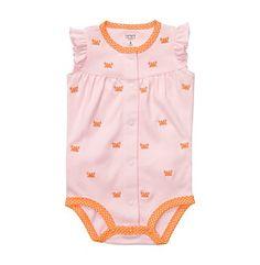 Product: Carters® Baby Girls Pink Crab Schiffli Creeper