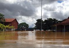 Cheia histórica do Rio Madeira. Porto Velho, Rondônia, Brasil - Março de 2014 - Estação da Estrada de Ferro Madeira - Mamoré