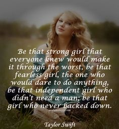 everytime I look or read something that taylor swift wites i love her even more than i did before. GOOD JOB TAYLOR NEVER CHANGE!!